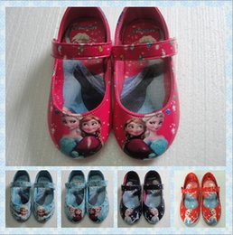 Wholesale 2014 Top Sales frozen elsa and anna shoes blue Red Pink Purple girls flats kids children princess shoes Pair pair frozen socks pair