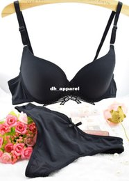 Wholesale Intimate Vs Brand Push Up Sexy Bra Sets Of Large Size Women s Underwear Set Seamless Cute Bow Flower Bra And Panty Thongs Set