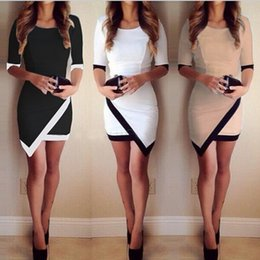 Wholesale 2015 New Elegant Ladies OL Dresses Sexy Women Slim Patchwork Dress Bandage Bodycon Work Casual Party Pencil Dress vestido de renda Stylish
