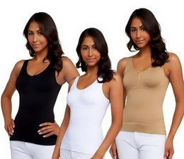 Wholesale Cami shaper by Genie in Garment with Removable Pads camishaper Look Thinner Instantly the Ultimate High Quality IN OPP Bag