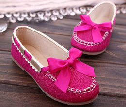 Wholesale 2015 Bowknot Girls Shoes Kids Leather Shoes Children Shoes Baby Footwear Fashion Casual Princess Dress Shoes Children Shoes Girl gift J002