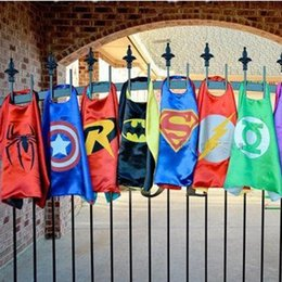 Wholesale Superhero Cape double side Children Boy Costume for Children Halloween Party Costumes Captain Capes Cloaks Star Wars Cape Styles