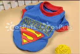 Wholesale 2014 High Quality FASHION Teddy puppy dog clothes dog mini cute clothes pet WINTER sport outfit pet superman cartoon clothes