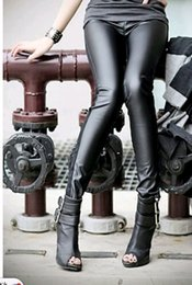 Wholesale Women s Sexy Wet Look Shiny Faux Leather Leggings Pants Treggings Tights