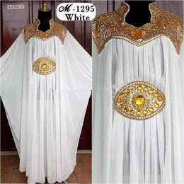 Wholesale Beaded Chiffon Embroidery abaya dress modern shukr islamic clothing caftan kaftan islamic muslin Evening dresses
