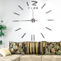 discount designer wall watches high quality large mirror wall clock modern design large decorative wall designer