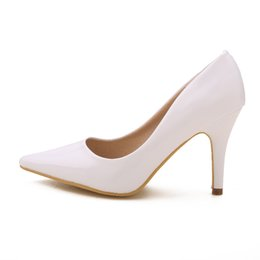 Wholesale White Bridal Wedding Shoes Girl High heeled Shoes Nightclub Performances Prom Shoes DY33049