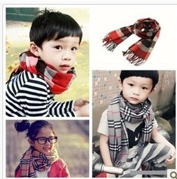 Wholesale 2014 Korean Style Childrens High Quality Classic Flaid Scarf Childrens Multi color Soft Warm Scarves