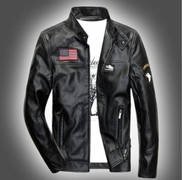 Discount Mens Brown Leather Bomber Jacket | 2017 Mens Brown ...