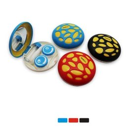 Wholesale Kawaii Contact Lens Case Fashion Contact Lens Holder with Mirror Tweezers Contact Lens Accessories