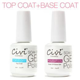 Wholesale wholesales Civi Diamond Nail Gel Top Coat Top it off Base Coat Foundation for UV Gel Polish Best ml