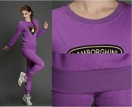 Wholesale Hot Sale sports suit for women casual printing pure cotton suit sweatshirt pants suit sweatshirt pants women sport set