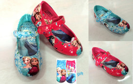 Wholesale Christmas princess shoes Frozen children leather shoes Anna Elsa girls dancing shoes autumn kids single shoes pairs TY