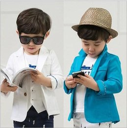 Wholesale Fashion New Korean baby boys cool suit coat children long sleeve jacket outwear tops kids spring clothes garment