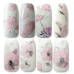Wholesale Nail foils D Solid Emboss pink set decals all posted nail supplies nails art nail tips