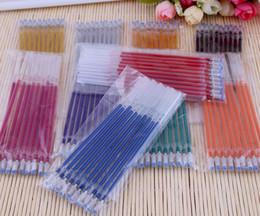 2017 pen refills blue color Manufacturers wholesale Gel Ink pen refills 1MM Highlighter refill 10colors Color mixing
