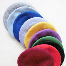 online shopping Fashion Women French Artist Winter Felt Wool Beret Beanie Hat Ski Cap Tam Gifts