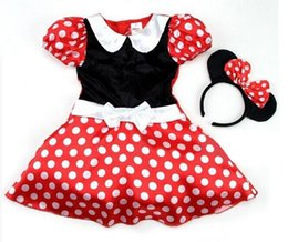 Wholesale New girls Minnie Mouse dress Party Christmas Costume Ballet Dress Y Kids