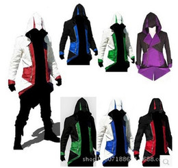 Wholesale Assassins creed Conner coats popular Assassins creed cool Cosplay Hoodie Jackets colors factory direct sale