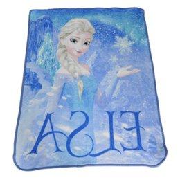 Wholesale Sophia blanket cm Large size Frozen Elsa Raschel Blanket frozen Dairy queen elsa adventures Frozen anime raschel blankets