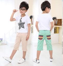Wholesale children clothes summer cute boys labeling embroidery standard shorts pants dandys