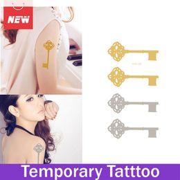 Wholesale 1 Sheet Key Hot Tattoo Jewelry Temporary Tattoo Kit Body Art Adesivos Flash Transferable Glitter Tattoo