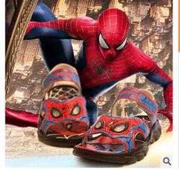 Wholesale Sandalias de los niños al por mayor luces araña Use zapatos de playa antideslizante CUHK muchacho del muchacho de los zapatos de la sandalia