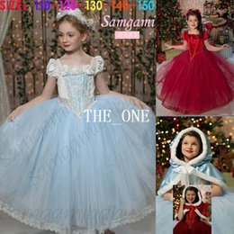 Wholesale frozen dress children girls christmas party dress girls christmas princess dress full dress hooded one piece fairytale dress