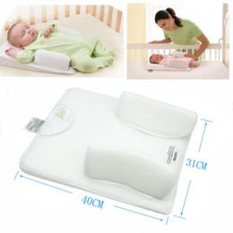 Wholesale 2005 Baby Infant Newborn Anti Roll Pillow Sleep Positioner Prevent Flat Head Cushion