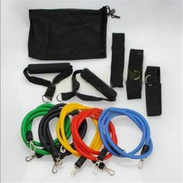 Wholesale Resistance Band Set with Door Anchor Ankle Strap Exercise Chart and Resistance Band Carrying Case