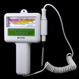 Wholesale Portátil PH Calidad del Agua CL2 cloro probador del metro del nivel de pH del probador de balneario de la piscina del envío libre
