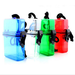 Wholesale New Plastic Waterproof Travel Container Sports Outdoor Swim Key Pills Cigarette Card Storage Box Case Holder