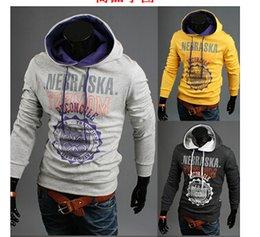Wholesale 1PCS Men Light Grey Printing Hooded sweater Men Sweatshirts Men hooded Coat Men Windbreaker Men Hooded Coat Men Baseball suit