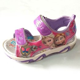 Wholesale Hot Frozen Elsa Anna Princess Girl Sandals Shoes Size Girl Frozen Sandals Match Frozen Dress Via EMS