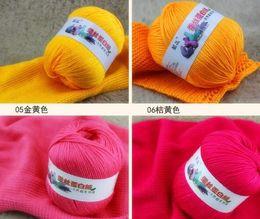Wholesale 500g bag g ball balls bag Silk fiber Lamp wool Cashmere Yarn Baby sweater hand knitting colorful yarn embroidery thread mm needle