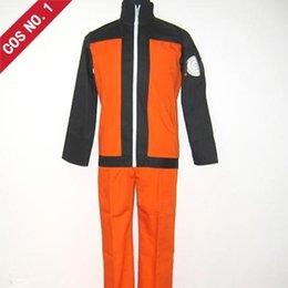 Wholesale Cosplay anime costume Naruto Uzumaki jacket shippuden Ninja Clothes Halloween Fashion Show Hot Sale New