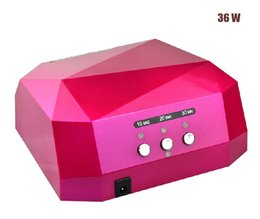Wholesale Factory price Fashion CCFL W LED Light Diamond Shaped Best Curing Nail Dryer Nail Art Lamp Care Machine for UV Gel Nail Polish EU Plug