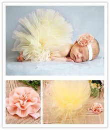 Wholesale Retail Fashion Baby girls tulle tutu skirt set with beautiful flower hair accessories Children photograph prop colors HB412