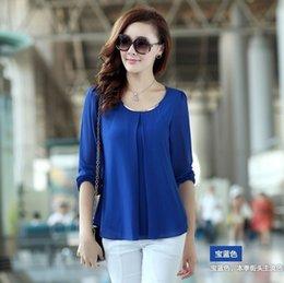 Wholesale Blusas Femininas Camisas Women Blouse Ladies Casual Long Sleeve Chiffon Shirt Plus Size XXL XXXL XL Tops Blouses Shirts