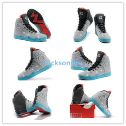 2013 Release Men Kevin Durant KD 6 VI NSW Lifestyle Birthday Men\u0026#39;s Sports Basketball Shoes - Light Grey Anthracite-White