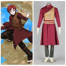 Wholesale NARUTO anime cosplay Sabaku no Gaara brown tan vest costume halloween
