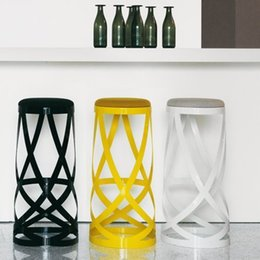 Wholesale Best popular designer furniture Ribbon stool metal chair creative european style bar chair fashion bar stools 2 color