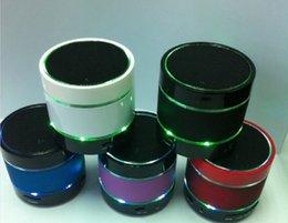 S09 sans fil Bluetooth Mini haut-parleur Mains libres Subwoofer pour l'iphone 4 4s 5 5c 5s HTC Samsung Téléphone MP3 HiFi MIC TF