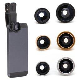 De los Estados Unidos! Nueva Lente Clip 3en1 kit de la lente de ojo de pez Lente Gran Angular Macro para iPhone 5S Samsung Mobile Móvil