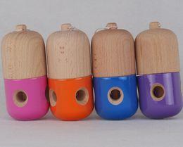 Wholesale New Pill Hole Kendama Toy traditionnelle japonaise Jeu Bois Kids Toy x5cm PU Coatting Beech