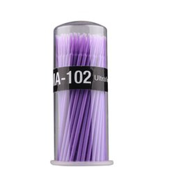 Wholesale Hot Sale Disposable Dental Small Applicator Dental Stick Medical Applicator Brush Random Color Delivery W1052