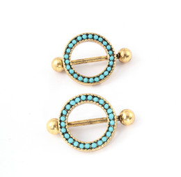Wholesale 2015 G Sexy Lady Jewelry L Surgical Steel Nipple Jewelry Trendy Round Antique Gold Plated New Design Unique Nipple Piercing Ring