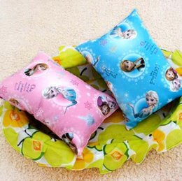 Wholesale Frozen pillows Elsa Anna princess desk nap small car back children newborn baby small pillow cartoon mat christmas kids gift