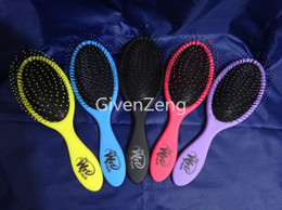 The WET Brush Queen Styler Professional Detangling Tangle Shower Hair Brush Teezer HairBrushes Combs 5-Colors FEDEX/DHL/EMS Free shipping