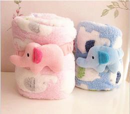 Wholesale Baby Kids Maternity Children s Nursery Bedding Children s Blankets elephant blanket coral fleece whole sale comfortable soft